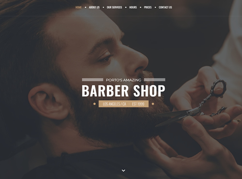 barber Website Sample