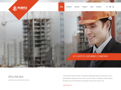 construction Website Agency Sample