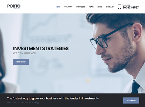 Finance Website Dwevelopment Sample