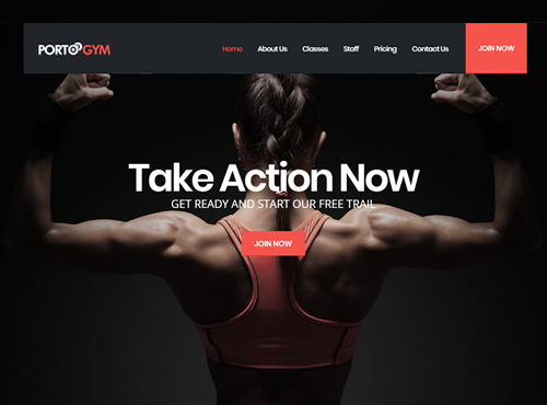 Gym Website Sample