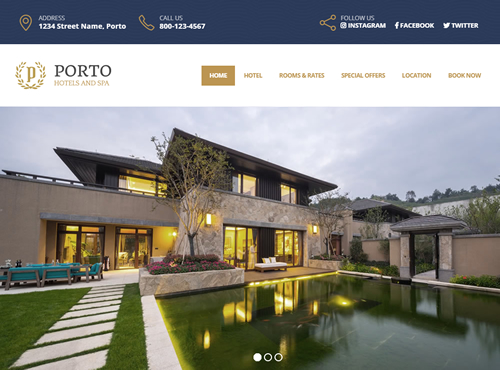 Hotel Website Sample
